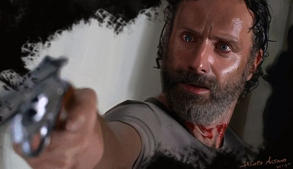 Rick Grimes (The Walking Dead) digital portrait by Jacopo Alfano