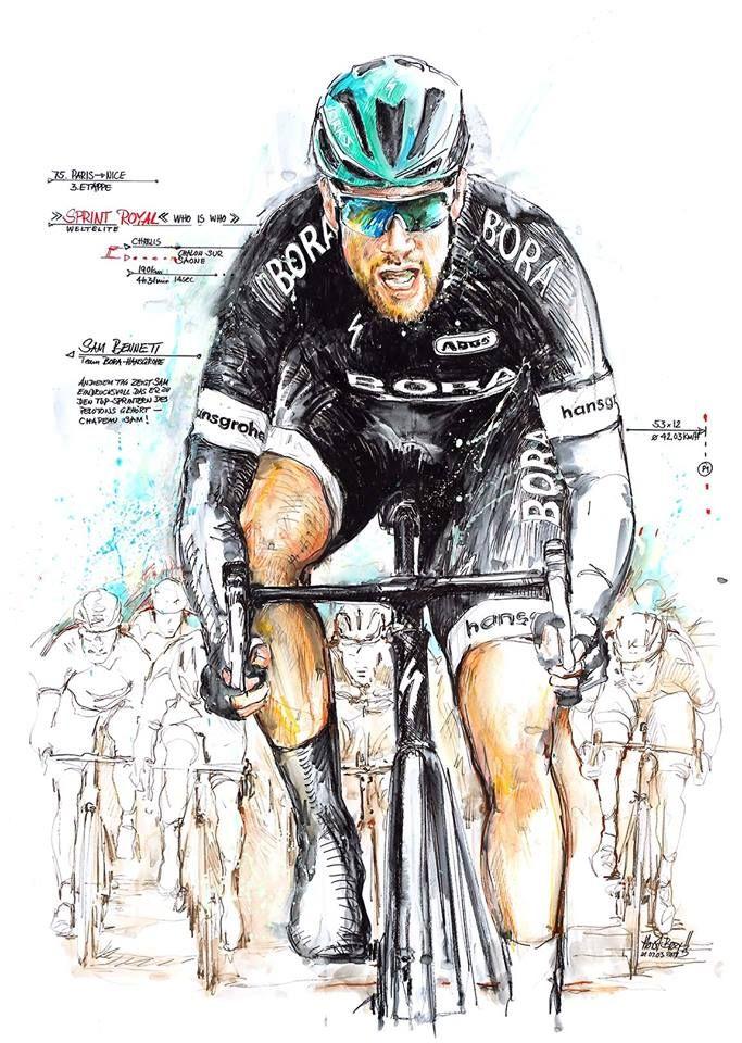 Sam Bennett, Bora-Hanserohe, wins Stage 3 Paris Nice 2017 by Horst Brozy