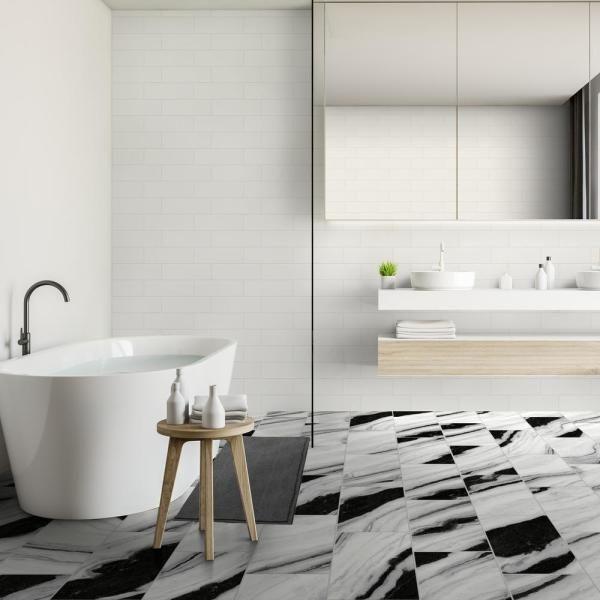 marble tile floor kitchen