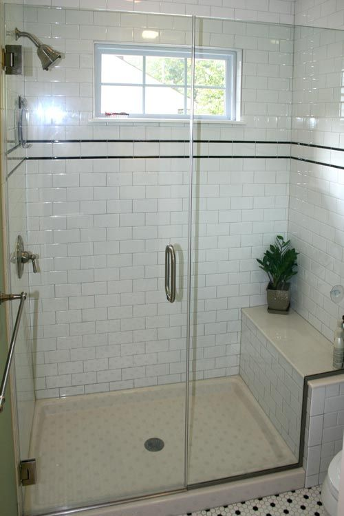 Bathroom Remodel Vintage Master Bathroom White Subway Pencil Tile Historic  Saint St Louis Mo Missouri Home