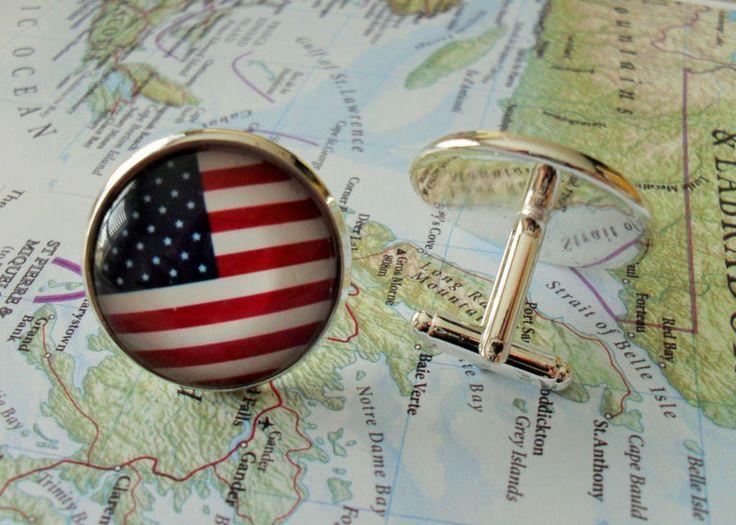 AMERICAN FLAG Cuff Links