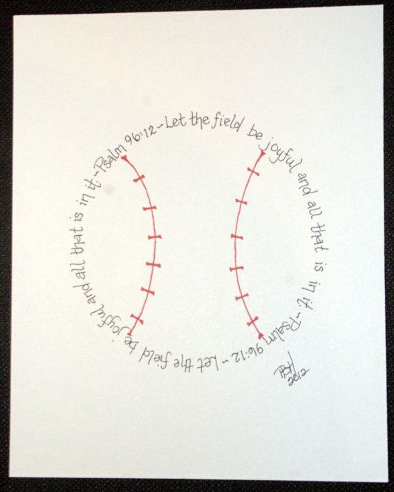Baseball Psalm 96:12 for boys who love baseball
