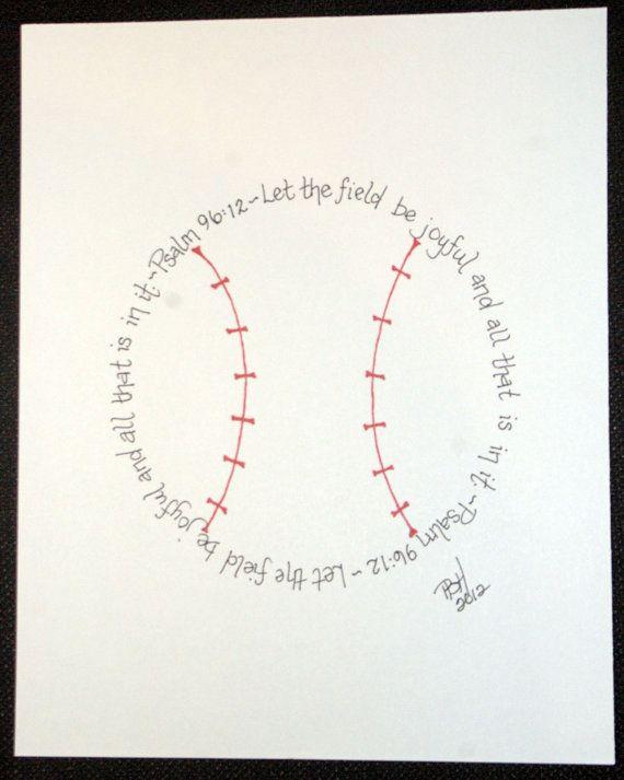 Psalm 96:12 for boys who love baseball