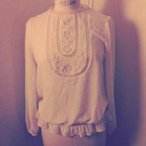 Blus, aldrig använd. Storlek S. | Vintage & Second hand - #vintage #secondhand #fashion #osom #iwantthis