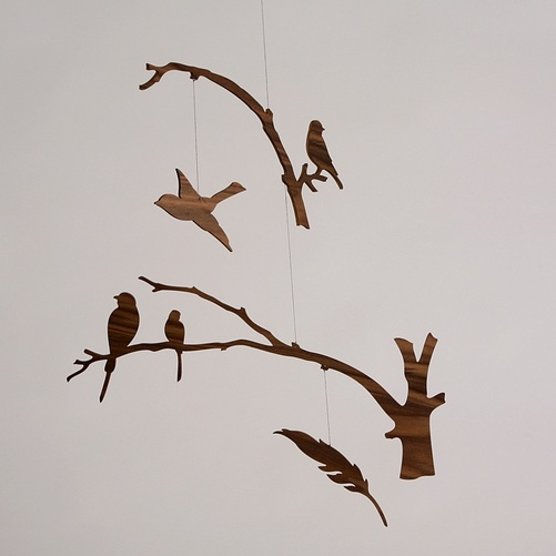 birds of a feather mobile by helen ige, u.s.a