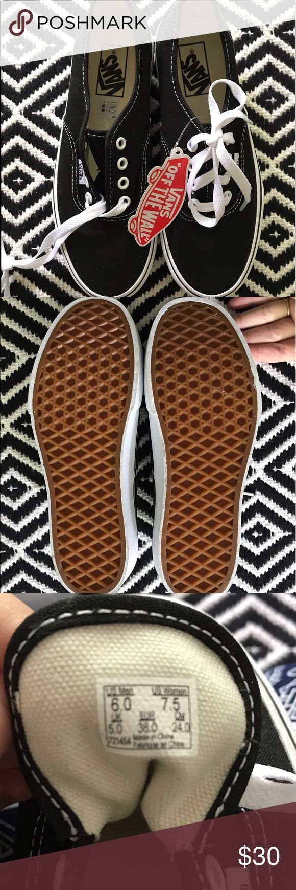 NWT Vans size 7.5 Women's 6 Men's You should buy these. They are so gd cute! Size 7.5 for women and 6 for men Vans Shoes Sneakers