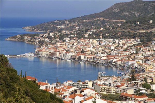 Vathy (or Vathi), the capital of Samos