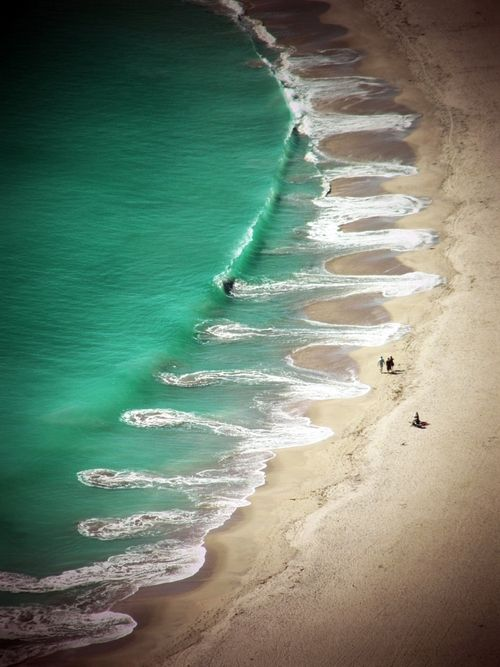 Swirly break in Mount Maunganui, Bay of Plenty in New Zealand. #travel #ocean