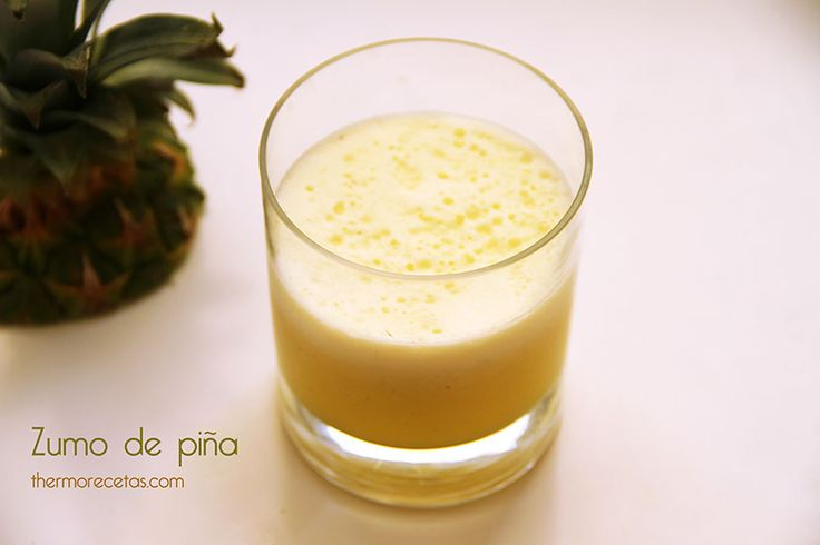 Zumo de piña natural