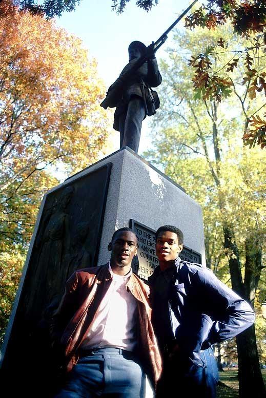 Michael Jordan and Sam Perkins in North Carolina Tar Heels College