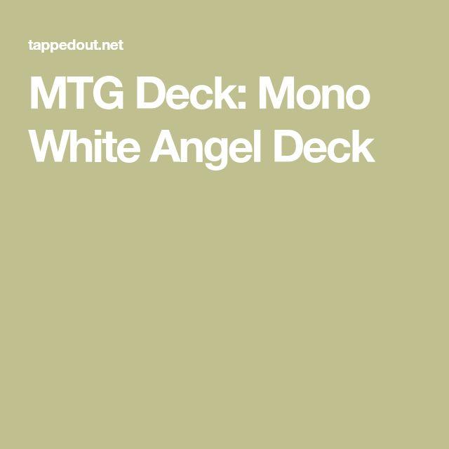 MTG Deck: Mono White Angel Deck