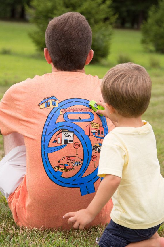 New Racing Car Track T-Shirt Playmat Gift for Dad by swankyturtle
