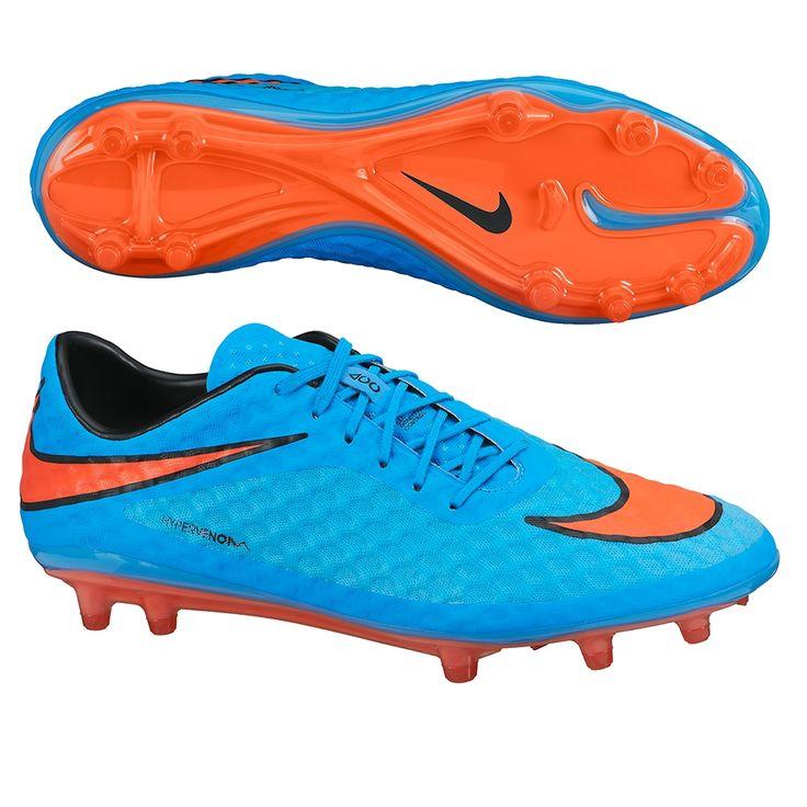 Nike Hypervenom Phantom FG Soccer Cleats (Clearwater/Blue Lagoon)