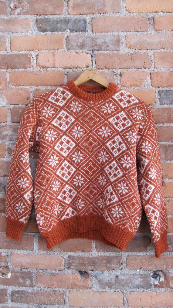 Norwegian snowflake ski sweater/vintage by ProjectObjectVintage