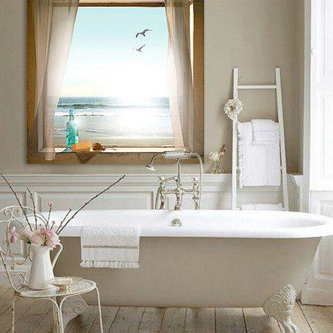 Best For The Beach House Images On Pinterest Bathroom Theme - Beach scene bathroom decor for bathroom decor ideas