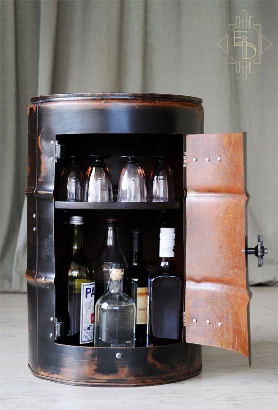 Bar Chevet Meuble Tablette Rangement Bidon Fut Materiaux De