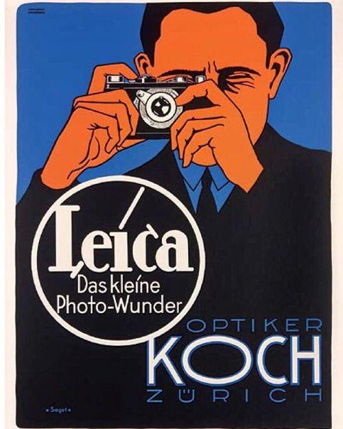 leica das kleine photowunder 1928 the original leica vintage advertising poster size 40 x 50. Black Bedroom Furniture Sets. Home Design Ideas