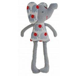 Elephant Toy Rattle - Grey Grey 31cm