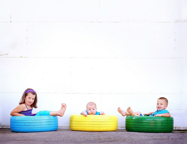 Painted tires. Super cute!! <3