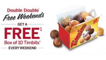 Tim Hortons Double Double FREE Weekends on http://www.canadafreebies.ca/