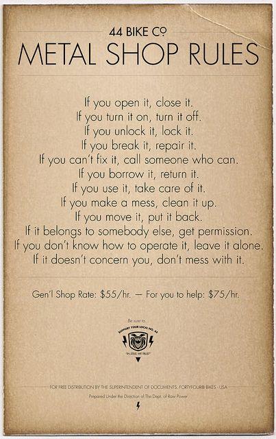 Official Shop Rules | www.44bikes.com | Kristofer Henry | Flickr