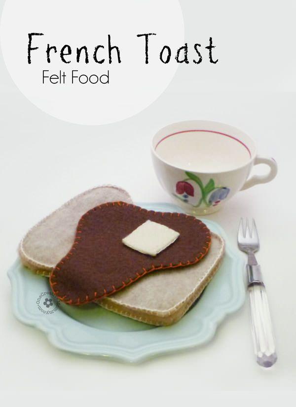Felt Food French Toast {OneCreativeMommy.com}
