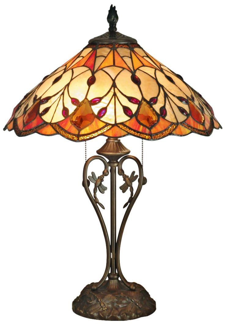 Dale Tiffany Marshall Art Glass Table Lamp | LampsPlus.com