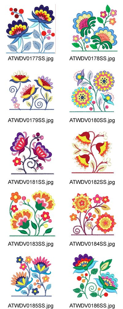 Jacobean-Pocket-Toppers Embroidery Designs