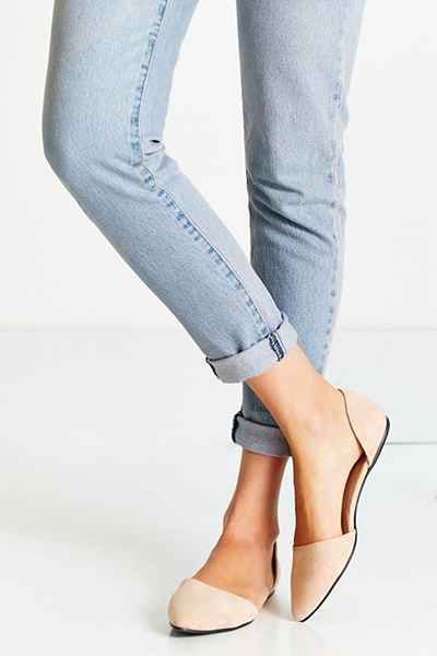 Suede DOrsay Flat - Urban Outfitters