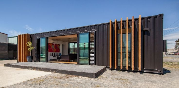 shipping container house by cubular new zealand shipping container homes pinterest 40. Black Bedroom Furniture Sets. Home Design Ideas