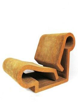 Frank Gehry Easy Edges Contour Chair, 1969-1973