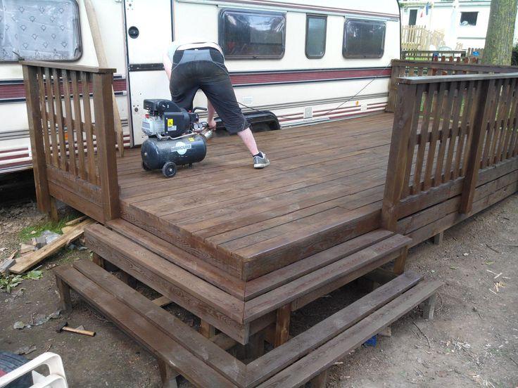 terrasse mobil home (objet et meuble en palette)