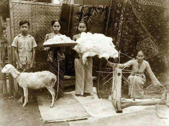 Pemintalan wol di Jawa, 1947