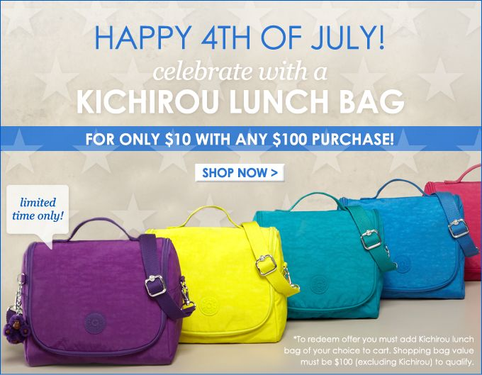 Happy #4thofJuly! :) Celebrate with Kichirou! Only $10 with any $100 purchase. www.kipling-usa.com