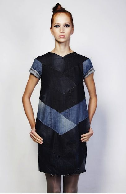 recycled denim dress <3 :::: trash_to_trend