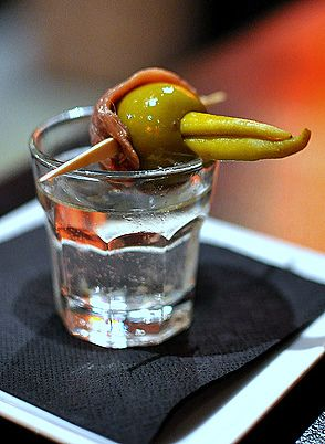 Pintxo Gilda: Basque Peppers, Olives & Anchovies