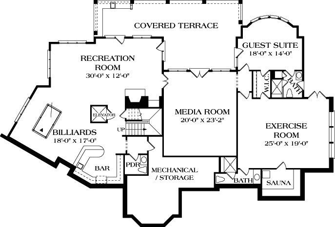 9 best basement game room images on pinterest basement for Mediterranean house plans with basement