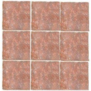 4x4 Rojo Alicante Marble Tile Tumbled
