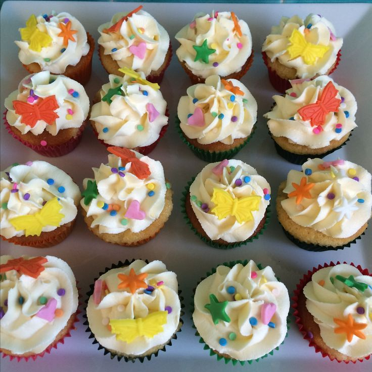Butterfly Sprinkle Cupcakes