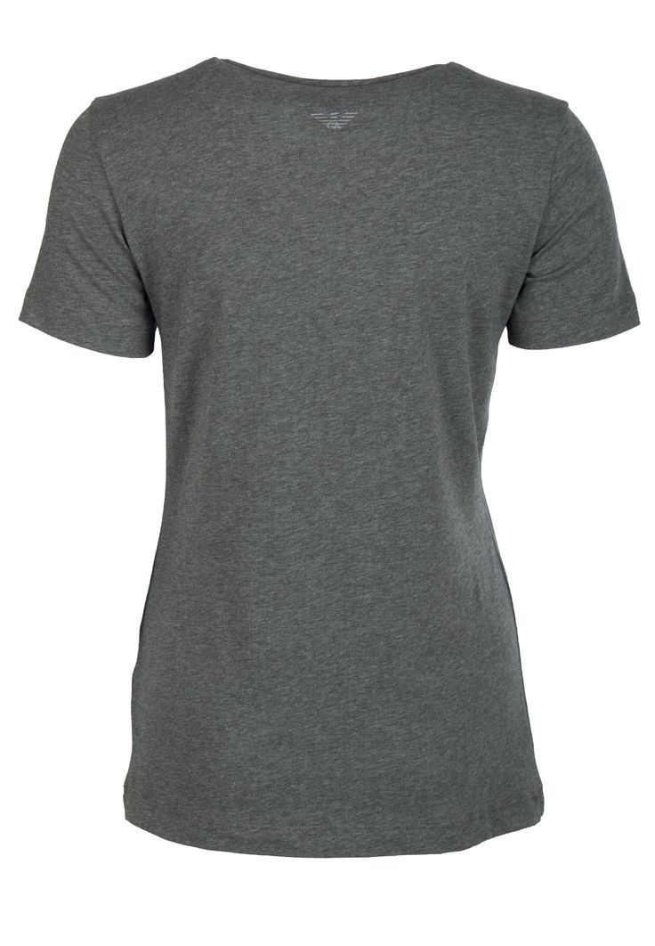 Серая футболка с принтом EMPORIO ARMANI - купить по цене 14900 рублей, арт. 3Y2T7A 2J7SZ - Elyts.ru