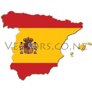 Flag Vector Map of Spain