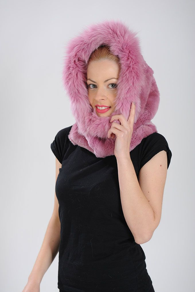Pink Hood of Rex Rabbit Patchwork and Fox. Available for wholesale orders.