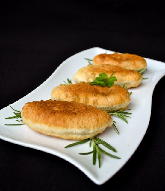 "Quick Hand Pies Filled with Mashed Potato ""Pirojki (Piroshki)"""
