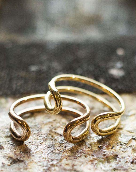 Giles & Brother gold bracelets