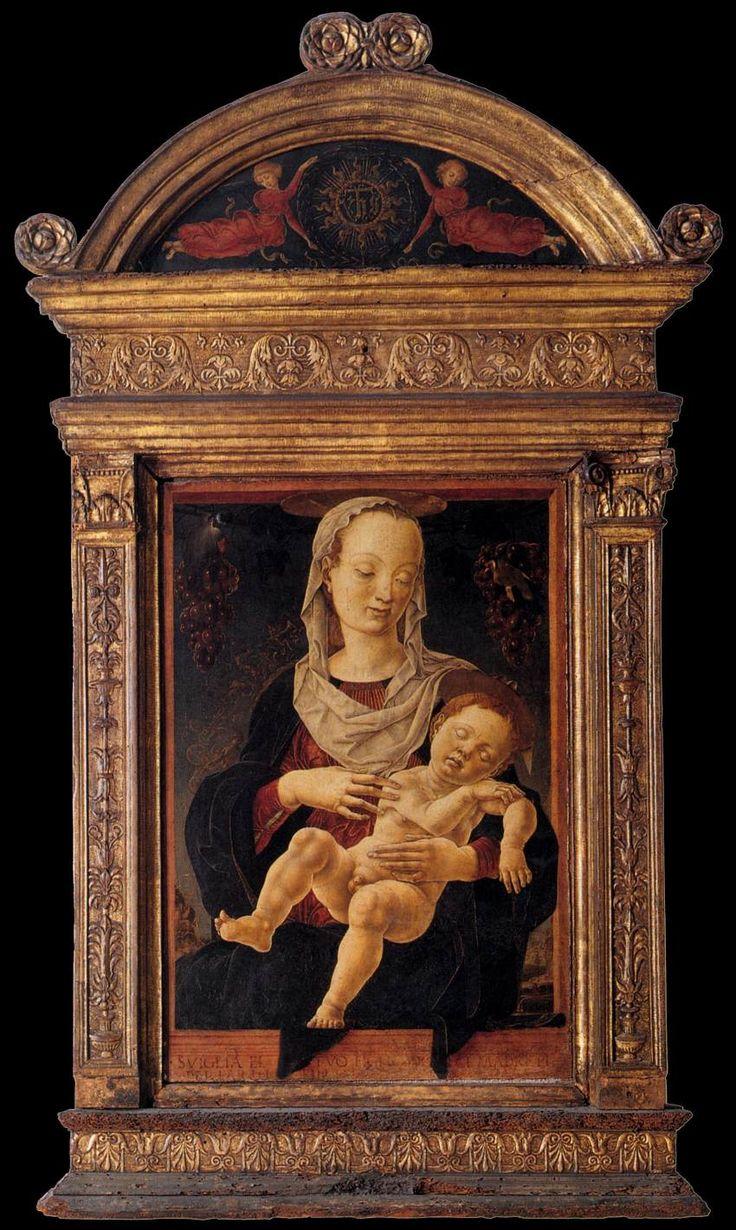Cosmè Tura (Ferrara, c.1433–95), The Madonna of the Zodiac, 1459-63, Tempera on panel, 121x69cm, Gallerie dell'Accademia, Venice.