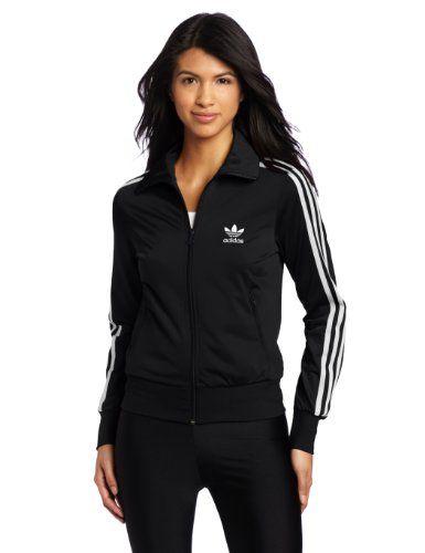 Adidas women's jacket black and white