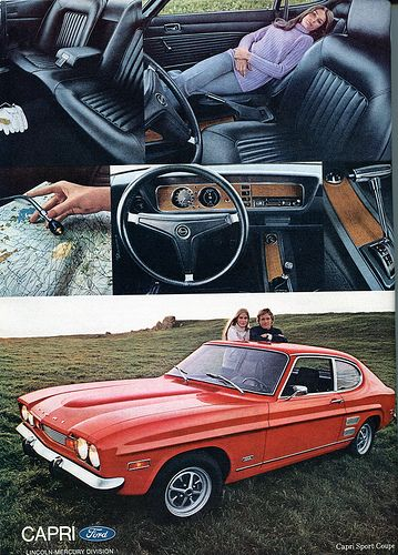 1971 Ford Capri Sport Coupe Advertising Playboy July 1971