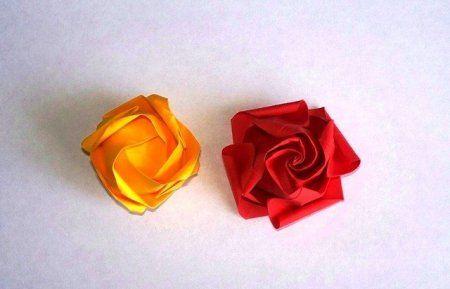 Оригами роза кавасаки из бумаги: мастер-класс по изготовлению