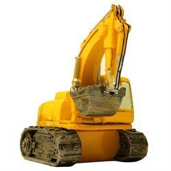 Une banque sous forme de pelle mécanique jaune sera parfaite dans la chambre de votre petit cultivateur!