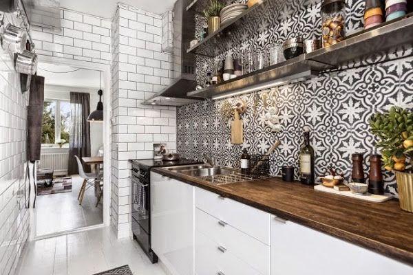 Estilo nordico para un apartamento en blanco y negro | Decorar tu casa es facilisimo.com